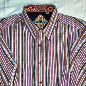 Robert Graham striped men's shirt - size large